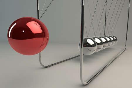 impacts: Esferas del cromo equilibrio conocido como la cuna de Newton (p�ndulo)