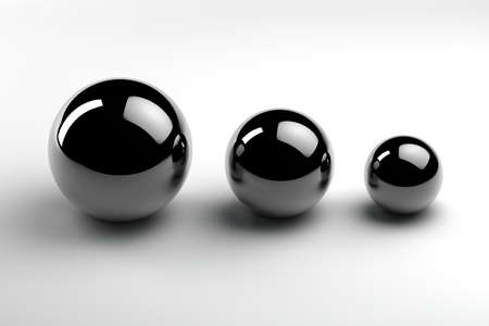 chrome balls of three different sizes
