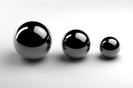 unequal: cromo bolas de tres tama�os diferentes