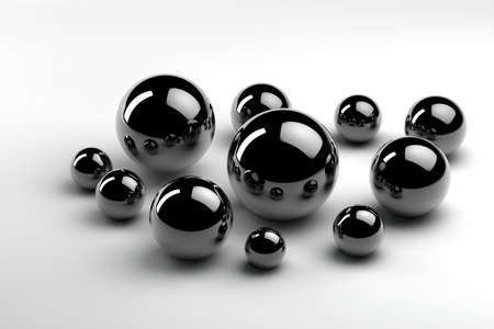unequal: randomly arranged metal balls