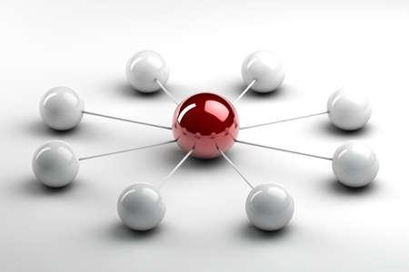 succesful: 3d spheres representing succesful teamwork