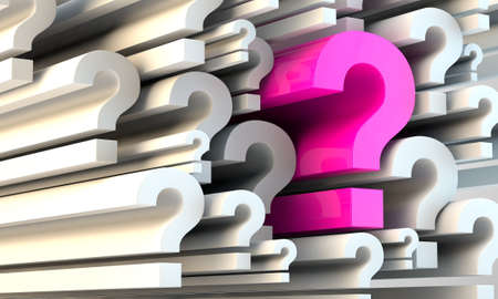 conceptual image of a question among lots of question marks Stock Photo - 18273558