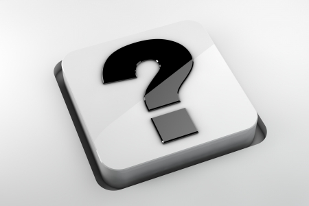FAQ button to be used on websites or in print Stock Photo - 18272998