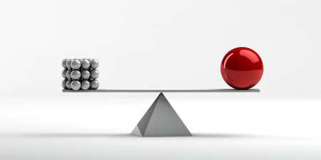 unequal: El equilibrio entre los diferentes objetos de formas desiguales