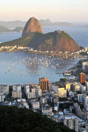 Evening view of Rio de Janeiros famous landmark Sugarloaf photo