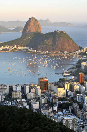 Evening view of Rio de Janeiros famous landmark Sugarloaf