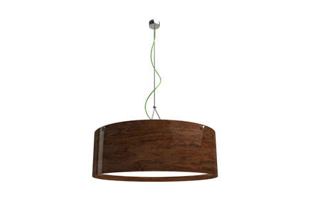 wooden ceiling: 3d model of a ceiling light made of wood