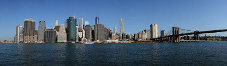 Panorama of Manhattan and Brooklyn Bridge, New York City