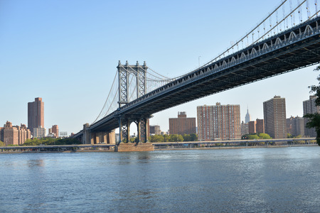 Famous bridge connecting Brooklyn and Manhattan in New York, US