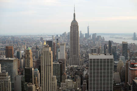 View of Manhattan from The Top Of The Rock (Rockefeller Center) Stock Photo