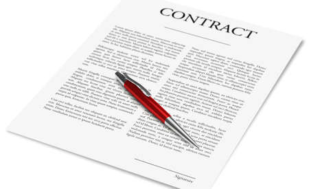 Concept of signing a business contract