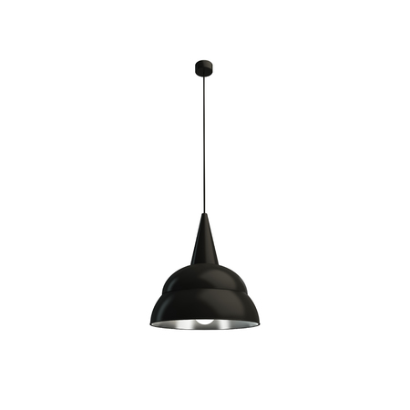 Black and silver hanging lamp