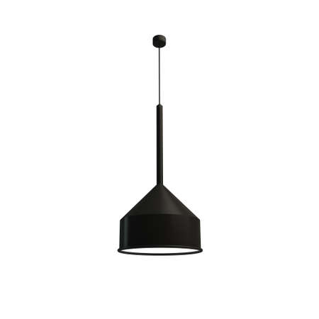 Simple black ceiling light on white background