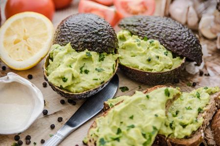 sandwich with puree of avocado Zdjęcie Seryjne