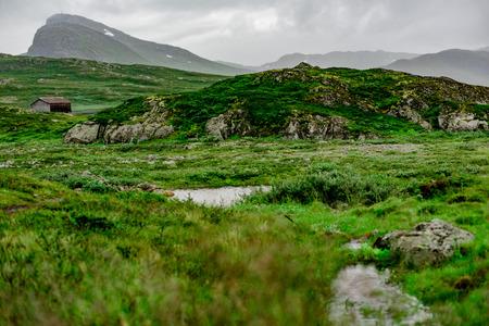 Mountain in Norwegian national park Jotunheimen Zdjęcie Seryjne