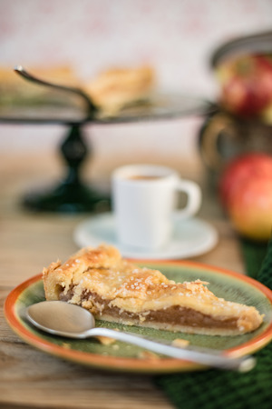 Apple pie, home made cake and the cup of coffee Zdjęcie Seryjne