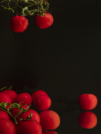 Tomatoes cherry in the water as a template