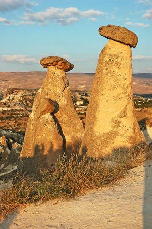 phallic: Capadocia chimeneas de piedra