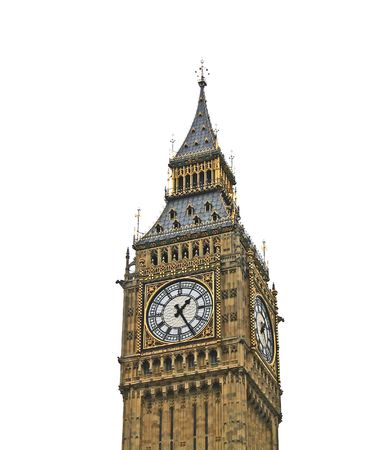 The Big Ben isolated on white background, London United Kingdom  photo