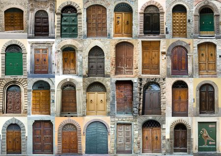 Elegant, obsolete tuscany doors photo