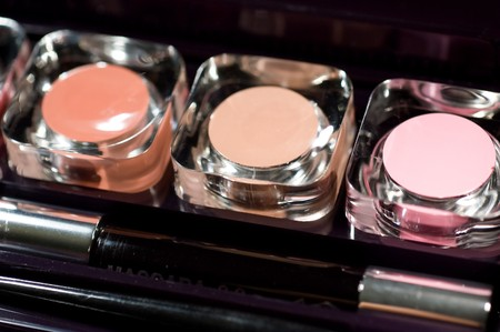 Cosmetics, macro lipstick photo