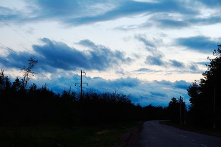 beautiful clouds are in an evening calling sun photo