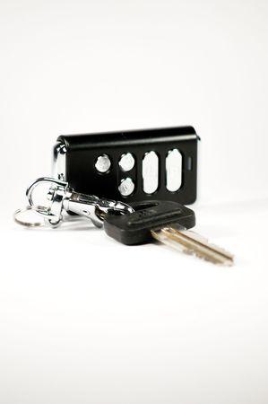 signalering: motor-auto sleutel met een trinket van signalering