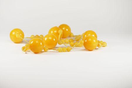 womanish bijouterie of yellow Stock Photo