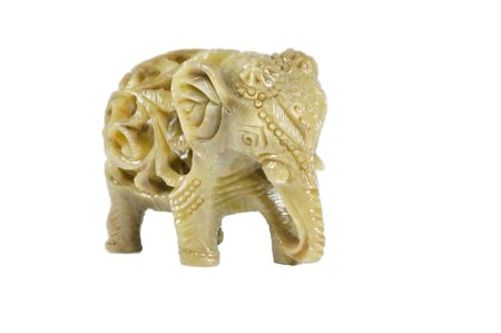 a nephrite statuette representing an elephant photo