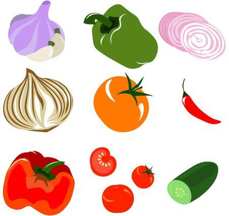 Set of vector vegetables. Scare. Design for menu, cafe, recipes, restaurants.