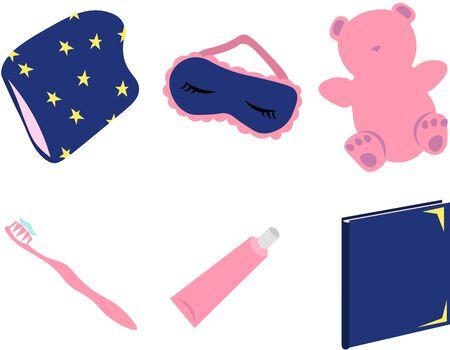 Items for sleep and hygiene. Good night.