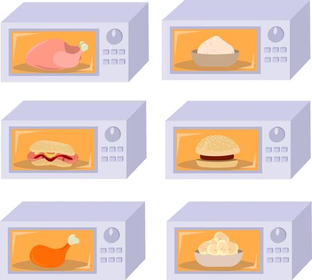 Set microwave. Preparation of semi-finished products, heating fast food.