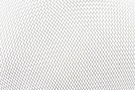 Metal net on white background photo