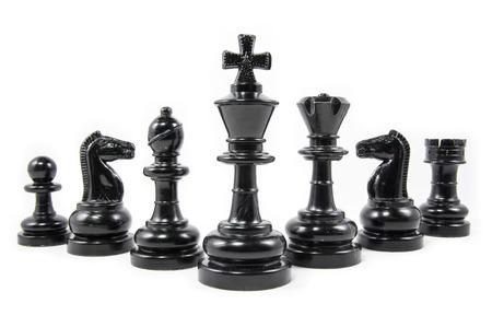 Schach Stück isoliert auf weißem Hintergrund Standard-Bild - 30481478