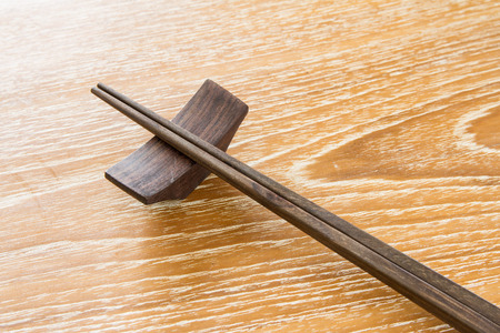 chop stick: chopstick on wooden table