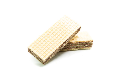 wafers: wafers isolated on white background Stock Photo