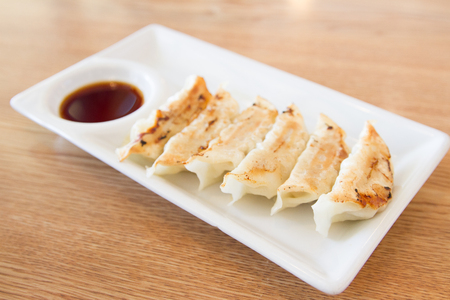 gyoza: japanese style fried dumpling gyoza