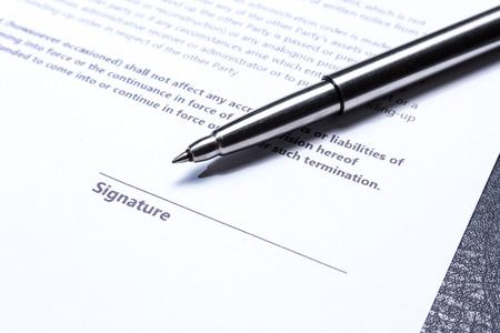 zakelijke contract document papier