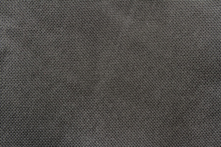 black polyester cloth fabric texture for background Stock Photo