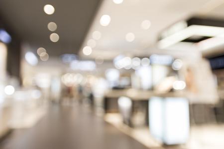 vervagen warenhuis met bokeh voor achtergrond