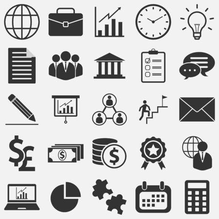 Solid flat style business icons and symbols Zdjęcie Seryjne