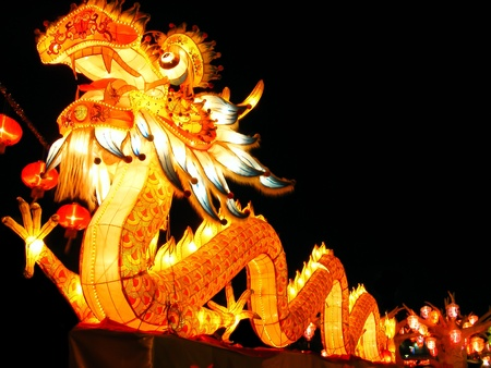 colorful lantern: Chinese style dragon Stock Photo