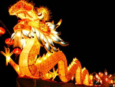 faroles: Dragón de estilo chino
