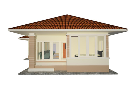 Drawing 3d Detached House Thailand  photo