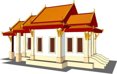 place of worship: Architectural design, the small temple in Thailand