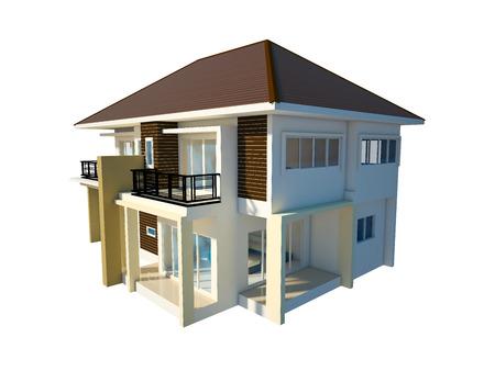 house isolated white background