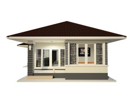 House Design isolated white background photo