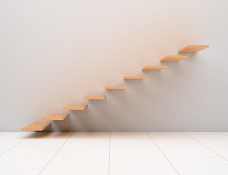 Modern home interior design stairs. Foto de archivo