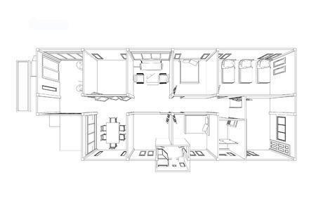 Ontworpen om een modern huis te creëren