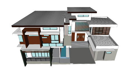 houses: Drawings design houses